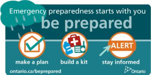 Emergency preparedness starts with you. Be prepared - make a plan, build a kit, stay informed.