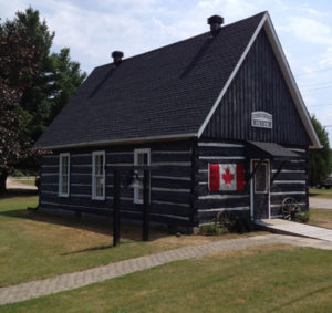 Photograph of the Township's museum building in summer.
